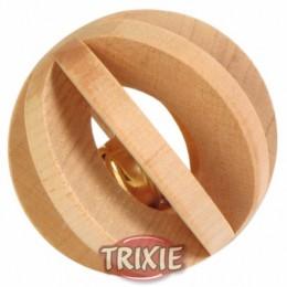 Bola madera con cascabel