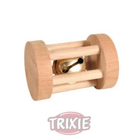Cilindro de madera con cascabel 5 cm