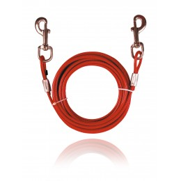 Cable de amarre forrado para perros