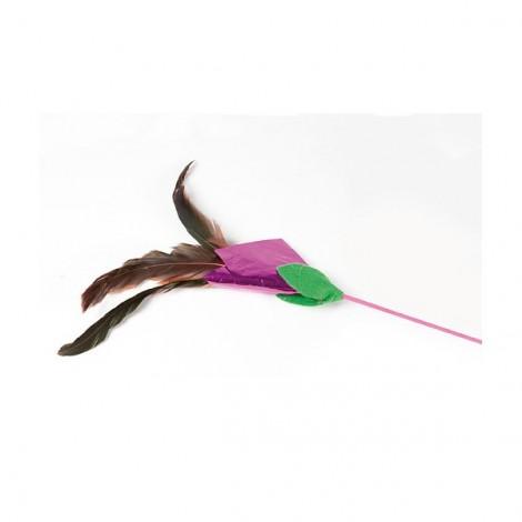 vara con plumas para gato