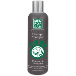 Menforsan Champú para perros intensificador del color marrón 300 ml.
