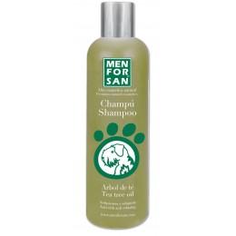 Menforsan Champú natural antipicores con Arbol de Té para perros 300 ml.