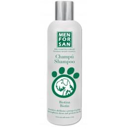 Menforsan Champú natural con biotina para perros 300 ml.