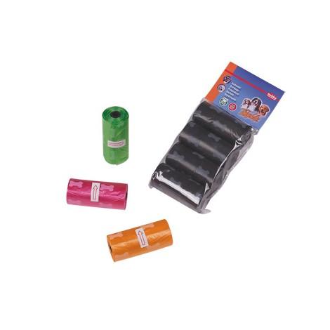 Bolsas recoge cacas de colores 60 ud.