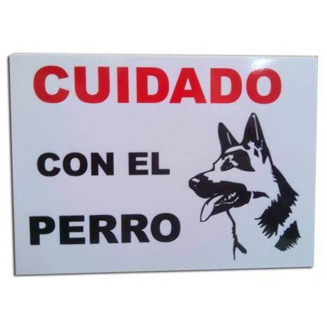 Placa perro peligroso