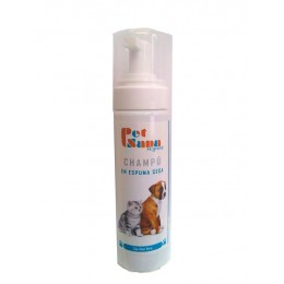 Champú Espuma Seca 200 ml. para perros y gatos PET SANA