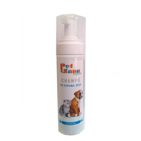 Champú en espuma seca para perros y gatos PET SANA