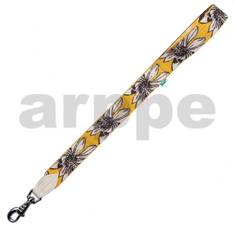 Correa Hawai de Nylon y piel Amarilla