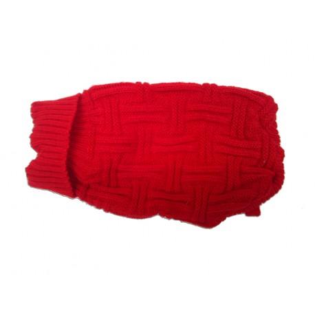 Jersey de lana rojo para perros