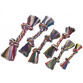Hueso 2 nudos de algodón multicolor