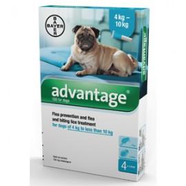 Advantage 100 pipetas para perros 4-10 kg.