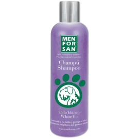 Menforsan Champú intensificador del color blanco para perros 300 ml.