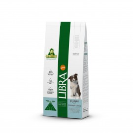 Libra puppy pollo y arroz 15 kg.