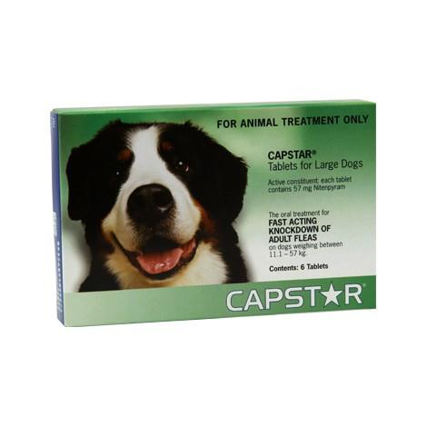 Capstar 57 mg. para perros de 11 a 57 kg.