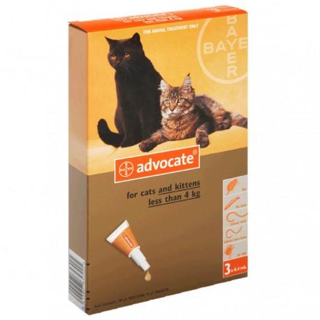 Pipetas Advocate gatos 1-4 kg.