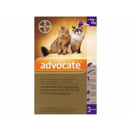 Advocate gato pipetas 4-8 kg.