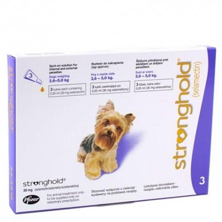 Stronghold 30 mg.para perros 2,6 - 5 kg.