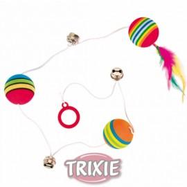 Set de pelotas arcoiris con elástico
