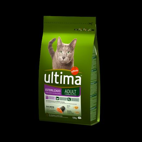 Ultima gatos esterilizados salmón 1,5 kg.