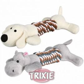 Animales con juguete mordedor para perros