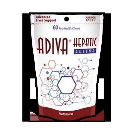 Adiva Hepatic Feline suplemento para la función hepática de los gatos 60 comprimidos masticables
