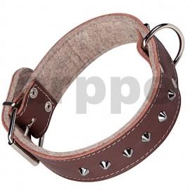 Collar de cuero grabado con fornitura