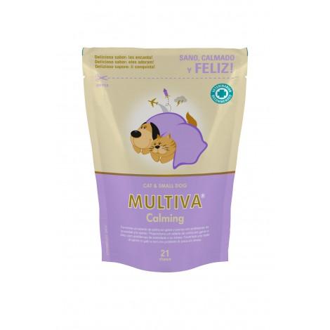 Multiva Calming gato y perro pequeño 21 comprimidos masticables