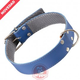 Collar cuero forrado Amazone 3D Azul