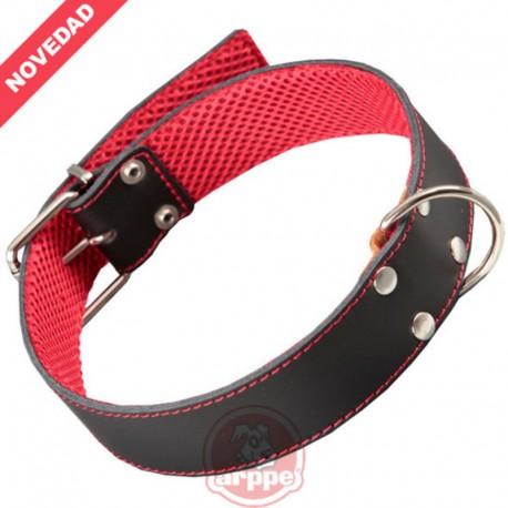 Collar cuero forrado Amazone 3D Negro