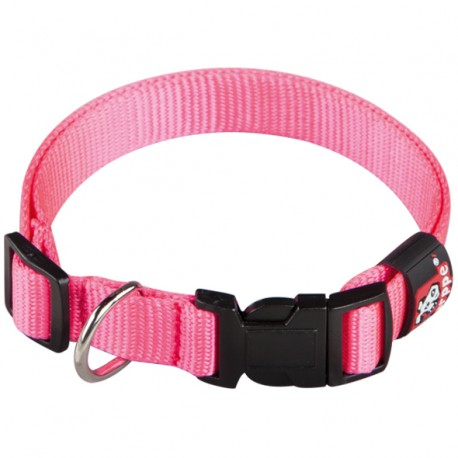 Collar regulable basic rosa