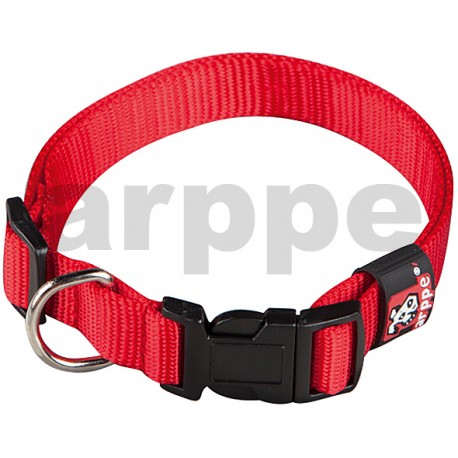 Collar regulable basic rojo
