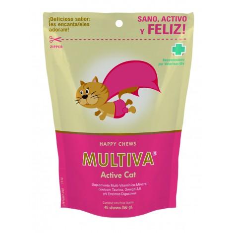 Multiva Active Cat multivitamínicos para gato 45 premios