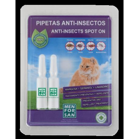 Pipetas anti-insectos para gatos