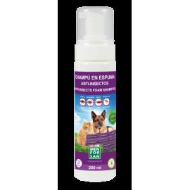 Menforsan Champú en espuma anti-insectos para perros y gatos 200 ml.