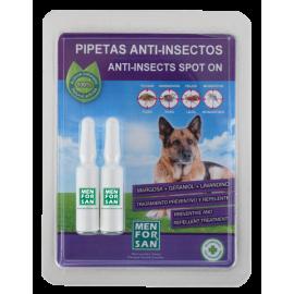 Pipetas anti-insectos con margosa, geraniol y lavandino