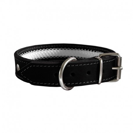Collar de cuero Tuynec negro 35 cm