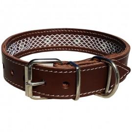 Collar de cuero Tuynec marrón 35 cm.