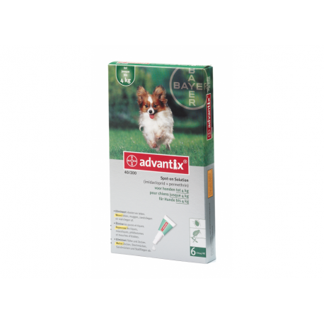 Advantix pipetas 0-4 kg.