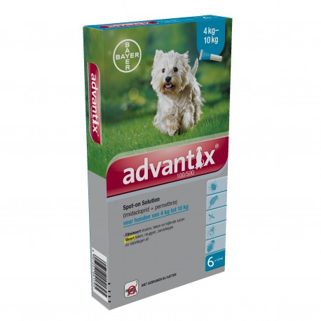 Advantix pipetas de 4-10 kg.