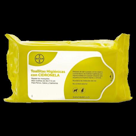 Toallitas higiénicas con citronela Sano & Bello
