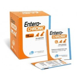 Entero-Chronic suplemento gastrointestinal para perros y gatos 15/30/60 sobres