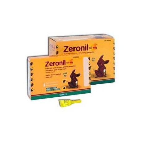 Pipetas Zeronil 67 mg. perros 2-10 kg.