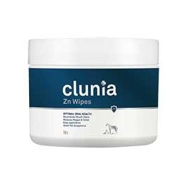 Clunia Zn Wipes tollitas limpiadoras bucodentales para perros, gatos y otras mascotas 100 ud.