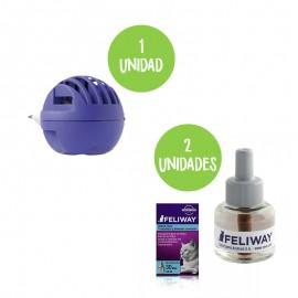 Kit Feliway difusor + 2 recambios 48 ml.
