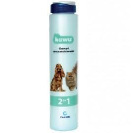 Kawu Champú fisiológico 2 en 1 para perros y gatos (250 ml. / 5 l.)