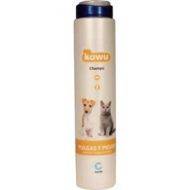 Kawu Champú tratamiento contra pulgas y piojos para perros y gatos 250 ml.