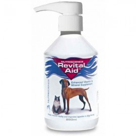 Revital Aid multivitamínico para perros y gatos 250 ml.