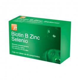 JT Biotin B Zinc Selenio vitaminas para la piel y músculos de perros y gatos 60 comprimidos
