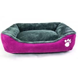 Cuna morada interior gris perros pequeños y gatos