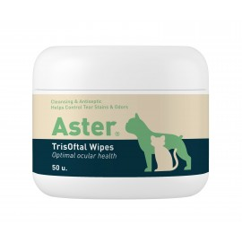 Toallitas ASTER TrisOftal limpiador contorno ojos y labios de perros y gatos 50 ud.